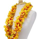 Light Orange Plumeria Lei