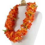Orange Plumeria Lei